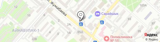 Банкомат, Kaspi bank на карте Алматы