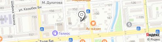 Нотариус Искандарова Э.Б. на карте Алматы