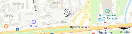 Жанар на карте Алматы