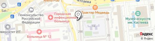 Коктем-3 на карте Алматы