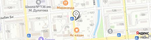 Лепёшка на карте Алматы