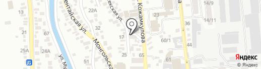 Айару на карте Алматы
