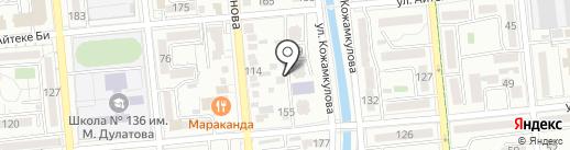 Акдана на карте Алматы