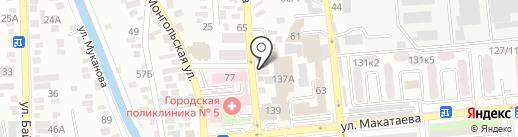 Калдыбаев и К на карте Алматы