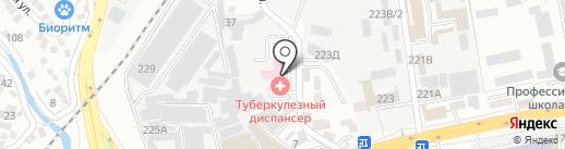Межрайонный противотуберкулезный диспансер на карте Алматы