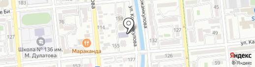Элеватормельстрой на карте Алматы