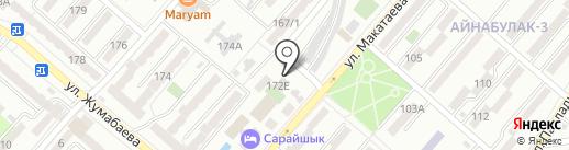 Шашу на карте Алматы