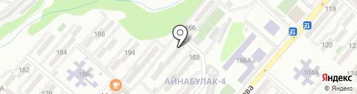 Афган на карте Алматы
