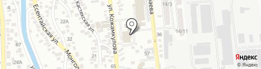 Дарын на карте Алматы