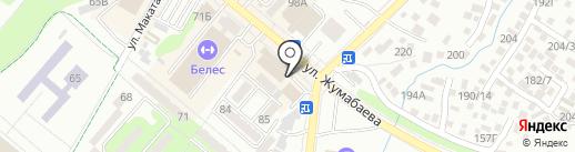 Каганат на карте Алматы