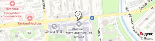 Республиканская физико-математическая школа, НАО на карте Алматы