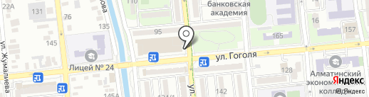 Киоск по продаже фастфудной продукции на карте Алматы