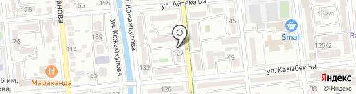 Каменный Век Алматы на карте Алматы