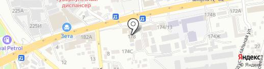 Синьцзян на карте Алматы