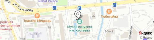 Жаухар на карте Алматы