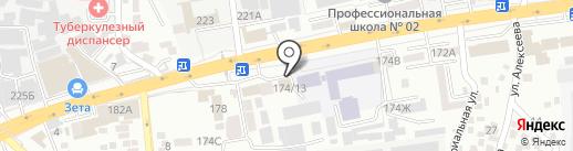 Магазин спортивных товаров на карте Алматы
