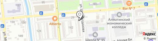 Нотариус Ертасова Н.Е. на карте Алматы