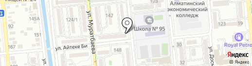 Нотариус Базарбаева А.А. на карте Алматы