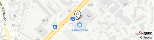 Фортуна на карте Алматы