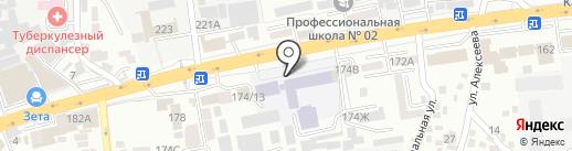 Алматинский колледж моды и дизайна на карте Алматы