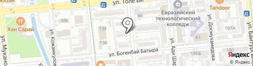 Асиям на карте Алматы