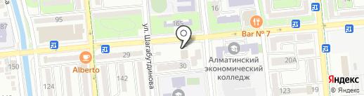 Алмалинский районный отдел РАГС на карте Алматы