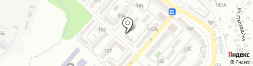 Гюнай на карте Алматы