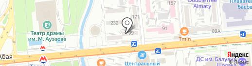 Лор + на карте Алматы