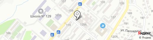 Жанель на карте Алматы
