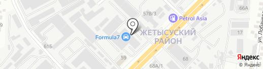 СВС на карте Алматы