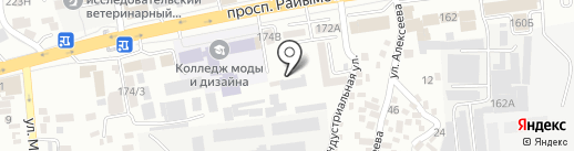 Елюхан на карте Алматы