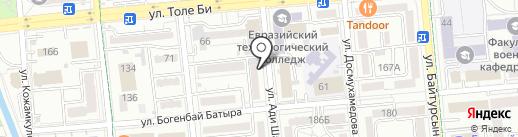 Нотариус Имангалиева Л.Р. на карте Алматы