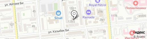 Апрель на карте Алматы