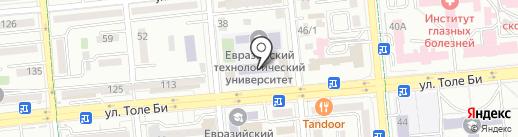 Евразийский технологический университет на карте Алматы