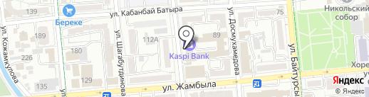 Платежный терминал, Kaspi bank на карте Алматы