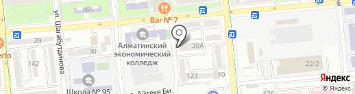 На Досмухамедова на карте Алматы