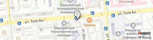 Нотариус Кусаинова Л.М. на карте Алматы