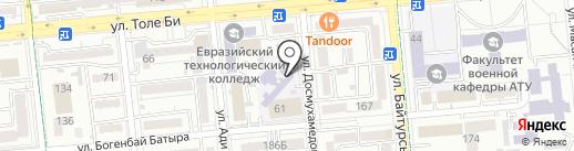 Специализированная школа-интернат для одаренных в спорте детей на карте Алматы