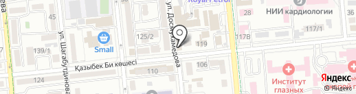 Нотариус Шаймуратова К.Х. на карте Алматы