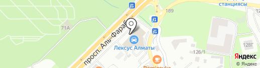 Lexus Алматы на карте Алматы