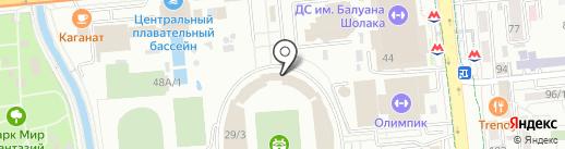 Детско-юношеская спортивно-техническая школа №5 на карте Алматы