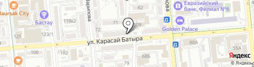 Нотариус Ахетова Ш.К. на карте Алматы