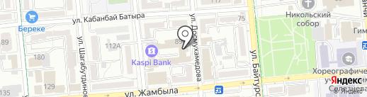 А-Жарнама на карте Алматы