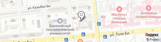 Стоматологическая клиника профессора Рузуддинова на карте Алматы