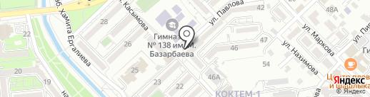 Коктем-1, ПКСК на карте Алматы