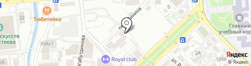 Фокус на карте Алматы