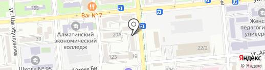 Найри на карте Алматы