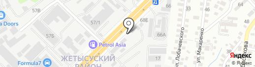 Аксуек на карте Алматы