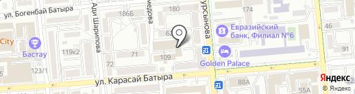 Отдел миграционной полиции УВД Алмалинского района г. Алматы на карте Алматы