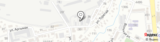 Сarbon на карте Алматы